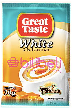 Great Taste White Coffee 3in1 Smooth & Caramelly 1 Pack / 10 Sachets