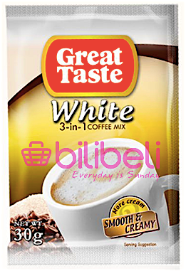 Great Taste White Coffee 3In1 Smooth & Creamy 1 Pack / 10 Sachets