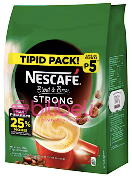 Nescafe Blend & Brew Espresso Strong 3in1 1 Pack / 30 Sachets