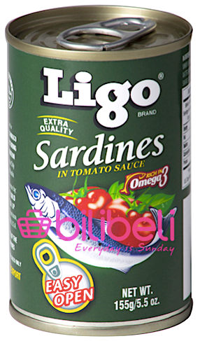 (BUY 1 TAKE 1) Ligo Sardines in Tomato Sauce 155g
