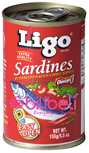 (BUY 1 TAKE 1) Ligo Sardines in Tomato Sauce with Chili 155g