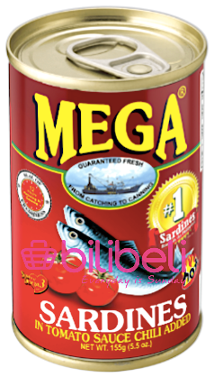 Mega Sardines in Tomato Sauce with Chili 155g