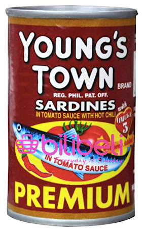 Young's Town Sardines in Tomato Sauce with Chili 155g