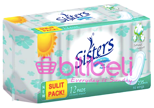 (BUY 1 TAKE 1) Sisters Day Maxi Regular Flow No Wings 1 Pack / 12 Pads