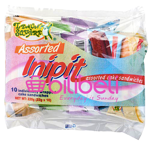 Lemon Square Inipit Assorted Cake Bar 1 pack / 10 pcs