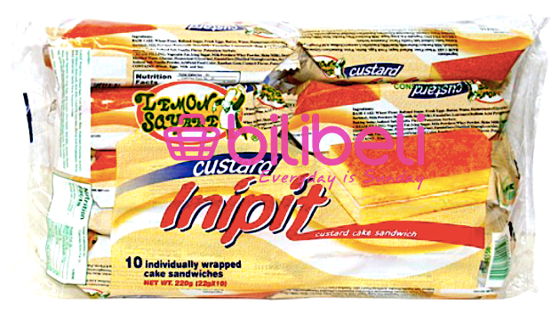 Lemon Square Inipit Custard Cake Bar 1 pack / 10 pcs