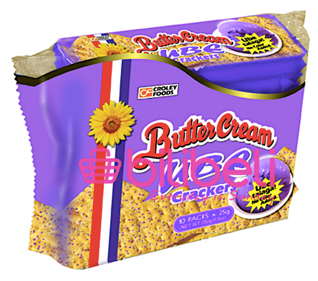 Croley Foods Butter Cream Ube Crackers 1 pack / 10 pcs