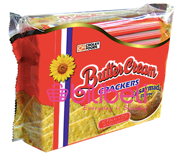 Croley Foods Butter Cream Ensaymada Crackers 1 pack / 10 pcs