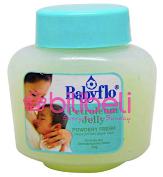 Babyflo Petroleum Jelly Powdery Scent 50g