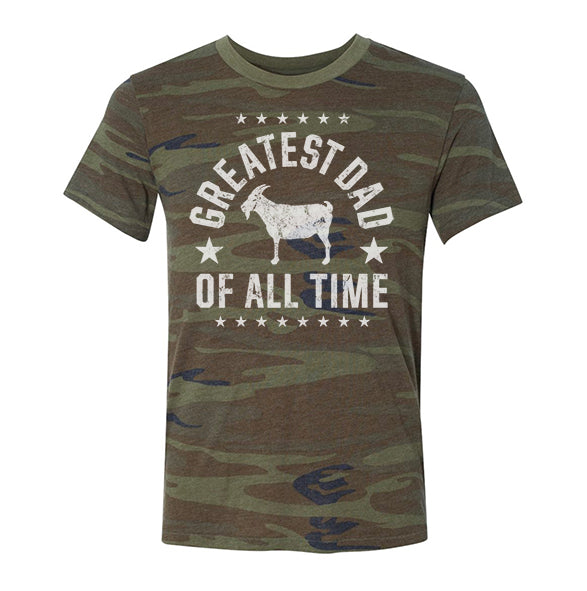 """Greatest Dad"" Camo T-shirt"