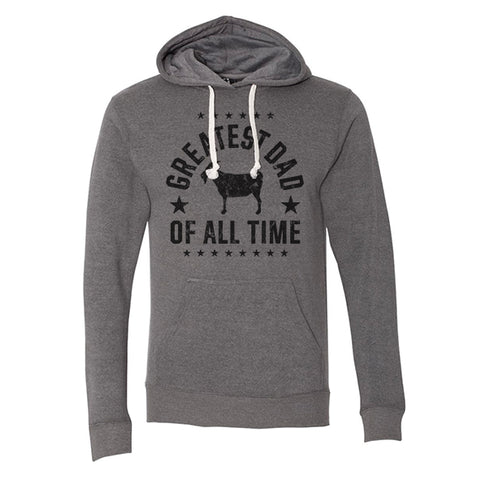 """Greatest Dad"" Gray Vintage Hoodie"