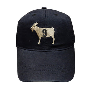 """GOAT 9"" Black Dad Hat"