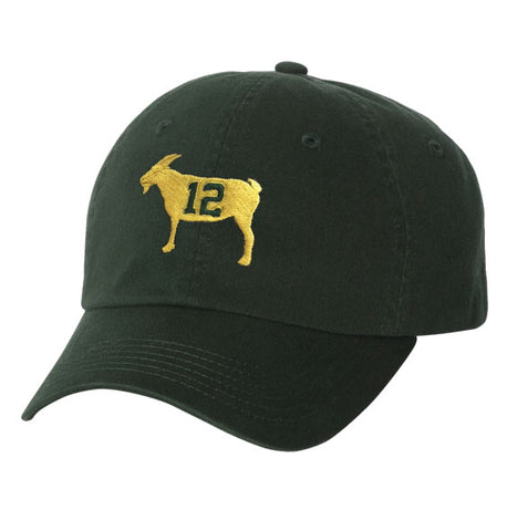 """GOAT 12"" Green Dad Hat"