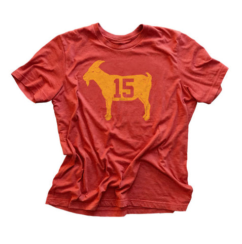 """GOAT 15"" Red Vintage T-shirt"