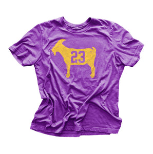 """GOAT 23"" Purple Vintage T-shirt"