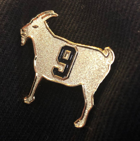 "Image of ""GOAT 9"" Gold Pin"