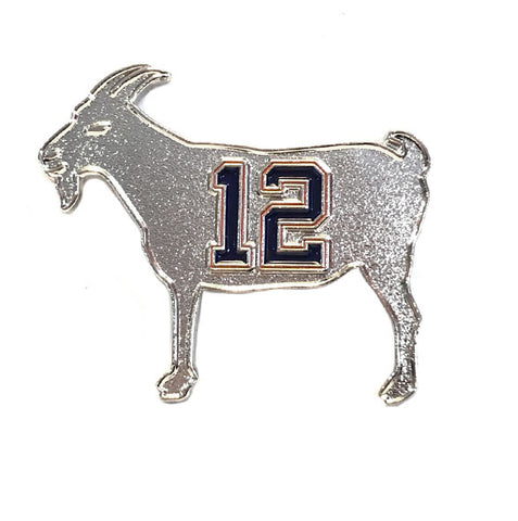"Image of ""GOAT 12"" Silver Pin"