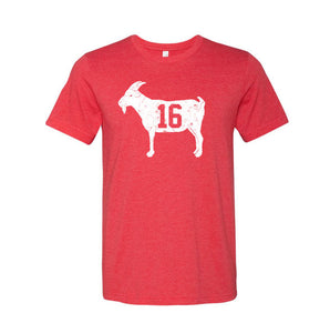 """GOAT 16"" Red Vintage T-shirt"