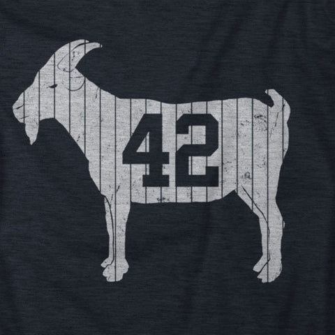 "Image of ""GOAT 42"" Blue Women's Vintage T-shirt"