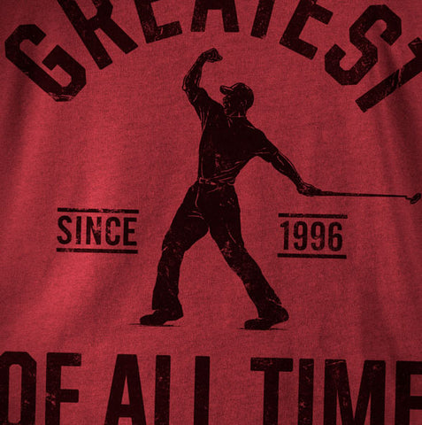 """Golf Greatest"" Red Vintage T-shirt"