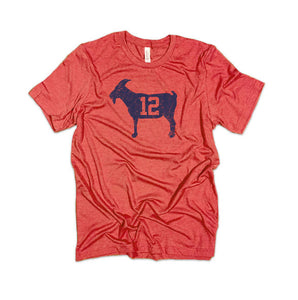 """GOAT 12"" Red Vintage T-shirt"
