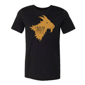 """House Brees"" Black Vintage T-shirt"