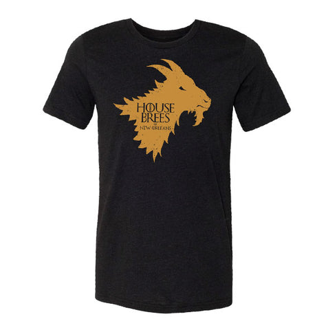 "Image of ""House Brees"" Black Vintage T-shirt"