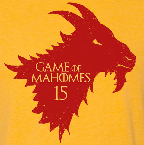 """Game of Mahomes"" Red Vintage T-shirt"