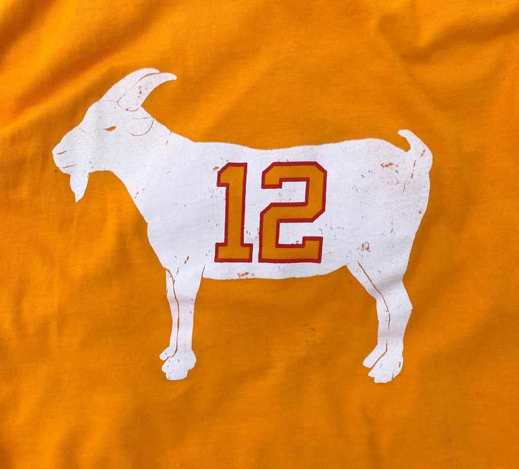 """GOAT 12"" Creamsicle Tampa Bay T-shirt"