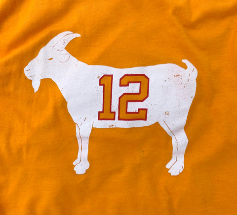 "Image of ""GOAT 12"" Creamsicle Tampa Bay T-shirt"