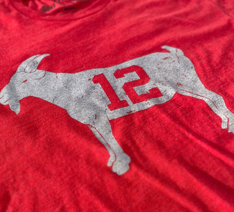 """GOAT 12"" Red Tampa Bay T-shirt"