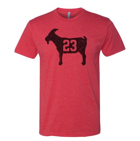 """GOAT 23"" Red Vintage T-shirt"