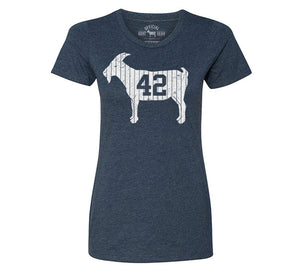 """GOAT 42"" Blue Women's Vintage T-shirt"