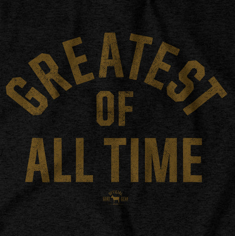"Image of ""Greatest Of All Time"" Black/Gold T-shirt"