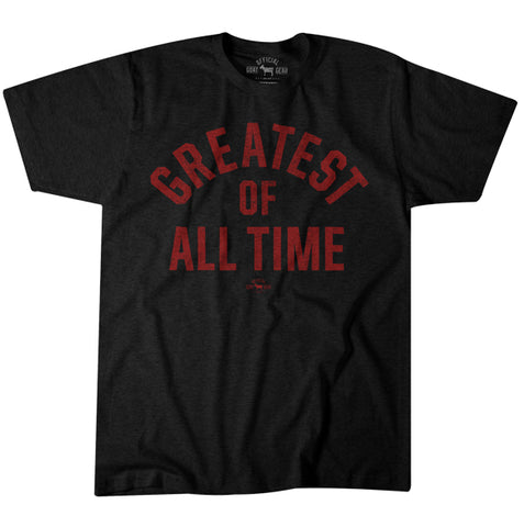 "Image of ""Greatest Of All Time"" Black/Red T-shirt"