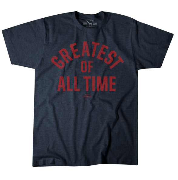 """Greatest Of All Time"" Blue/Red T-shirt"