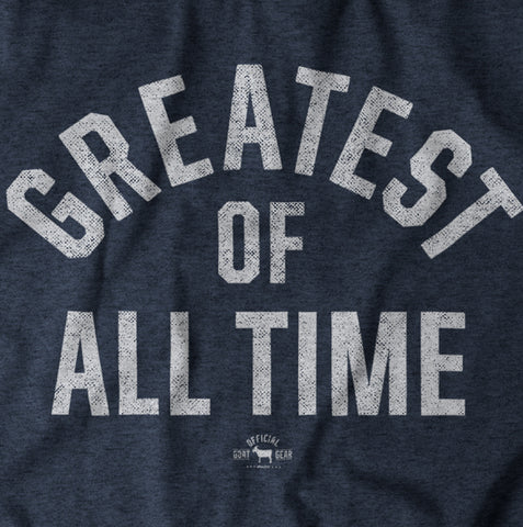 """Greatest Of All Time"" Blue/White T-shirt"