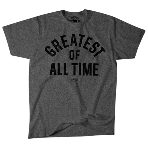"Image of ""Greatest Of All Time"" Gray T-shirt"