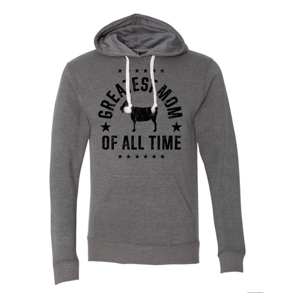 """Greatest Mom"" Gray Vintage Hoodie"