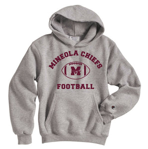 Mineola Chiefs Football - Gray - Hoodie - Youth