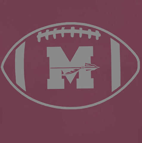 Image of Mineola Chiefs Football - Maroon/Camo - Youth Performance Tshirt