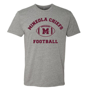 Mineola Chiefs Football - Gray - Tshirt