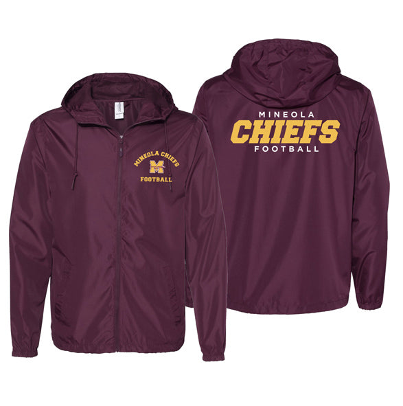 Mineola Chiefs Football - Maroon - Wind Jacket