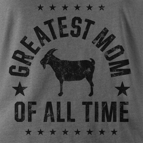 "Image of ""Greatest Mom"" Gray Women's T-shirt"