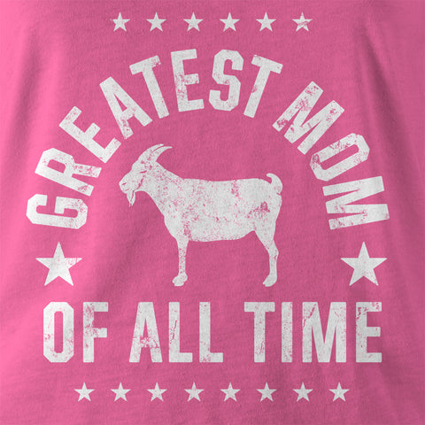 "Image of ""Greatest Mom"" Pink Women's T-shirt"