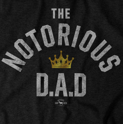 """Notorious DAD"" Black Vintage T-shirt"
