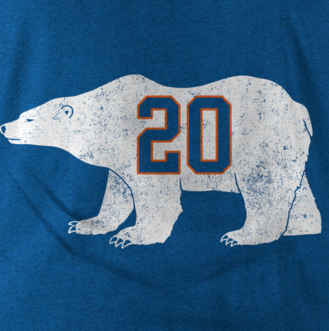 """Polar Bear 20"" Blue Vintage T-shirt"