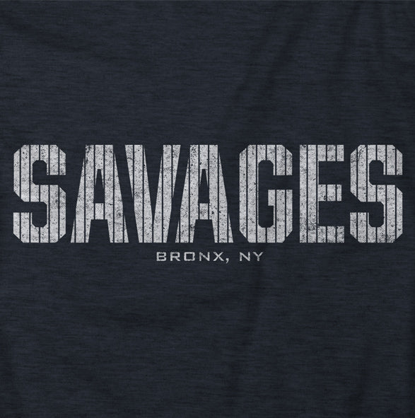 """Savages"" Blue Vintage T-shirt"