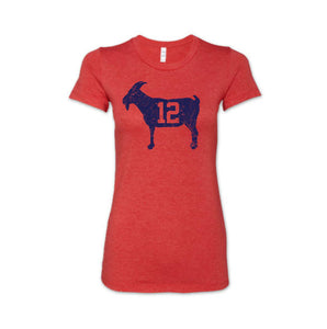 """GOAT 12"" Red Women's Vintage T-shirt"