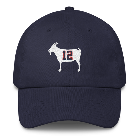 "Image of ""GOAT 12"" Blue Dad Hat - PRE-ORDER"
